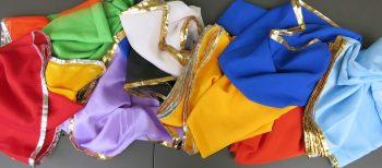 Schleier Unifarben und im Farbverlauf